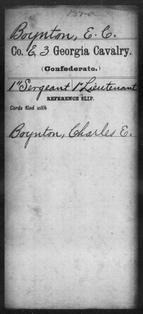 Boynton, E C - 3d Cavalry