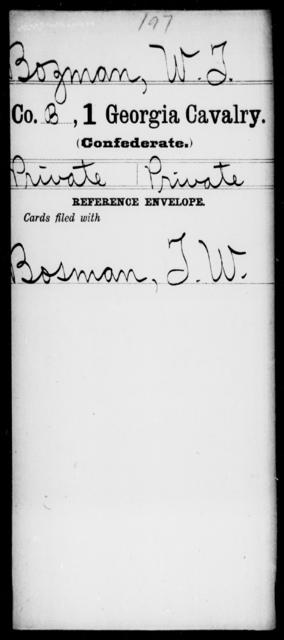 Bozeman, W T - 1st Cavalry