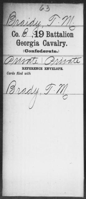 Braidy, T M - 19th Battalion, Cavalry