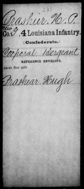 Brashier, H P - Age [Blank], Year: [Blank] - Third Regiment, First Brigade, First Division, Militia, - Louisiana
