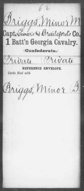 Briggs, Minor M - 1st Battalion, Cavalry
