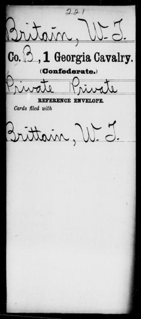 Britain, W T - 1st Cavalry