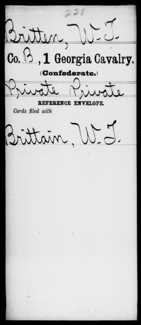 Britten, W T - 1st Cavalry