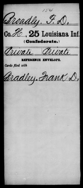 Broadly, F D - Age [Blank], Year: [Blank] - Twenty-fifth Infantry, A - Co - Louisiana