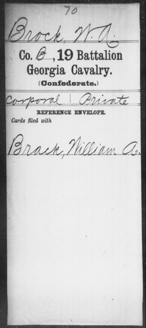 Brock, W A - 19th Battalion, Cavalry
