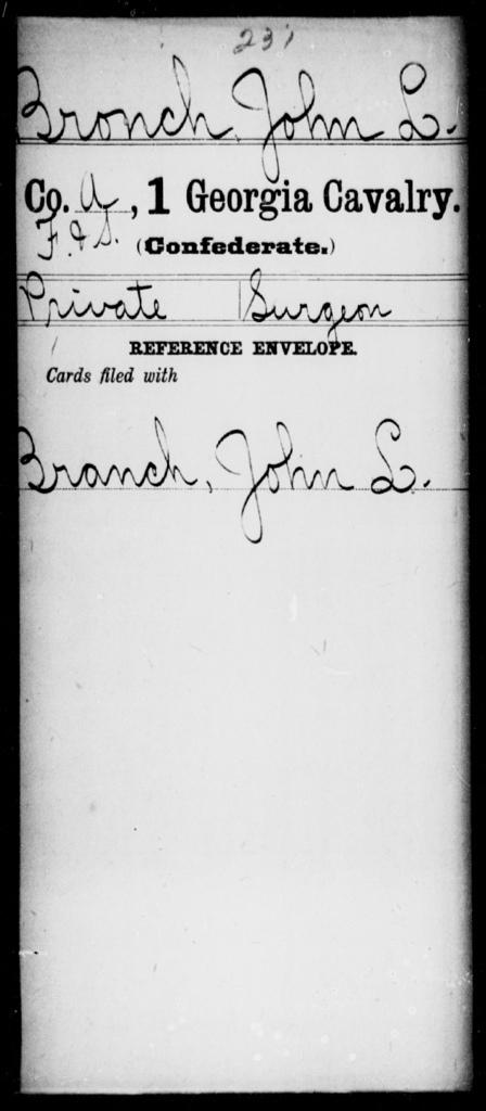 Bronch, John L - 1st Cavalry