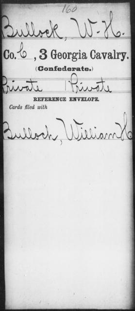 Bullock, W H - 3d Cavalry