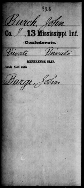 Burch, John - Age: [Blank], Year: [BLANK] - Mississippi B