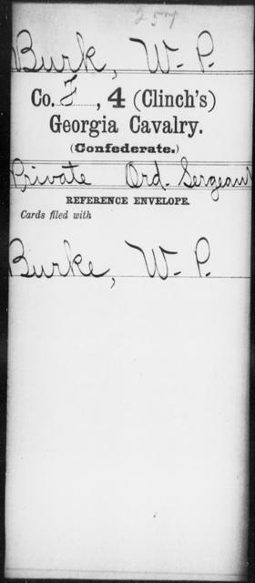 Burk, W P - 4th (Clinch's) Cavalry