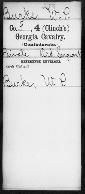 Burks, W P - 4th (Clinch's) Cavalry