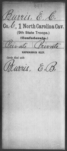 Burris, E C - First Cavalry (Ninth State Troops)