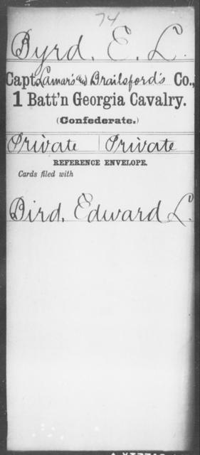 Byrd, E L - 1st Battalion, Cavalry