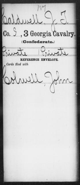 Caldwell, J T - 3d Cavalry