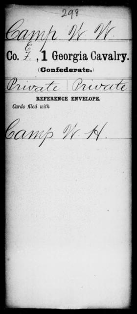 Camp, W W - 1st Cavalry