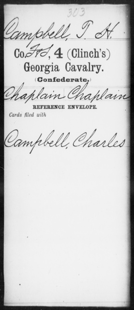 Campbell, T H - 4th (Clinch's) Cavalry
