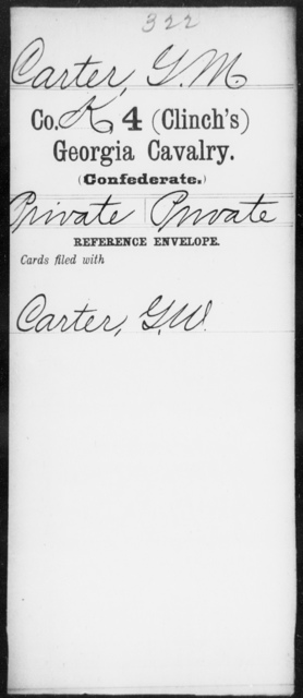 Carter, G M - 4th (Clinch's) Cavalry