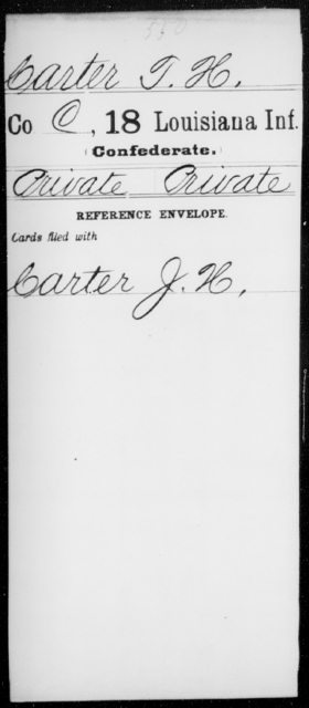 Carter, T H - Age [Blank], Year: [Blank] - Eighteenth Infantry, Br - C - Louisiana