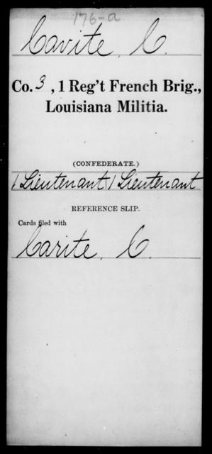 Cavite, C - Age [Blank], Year: [Blank] - First Regiment, French Brigade, C - La - Louisiana