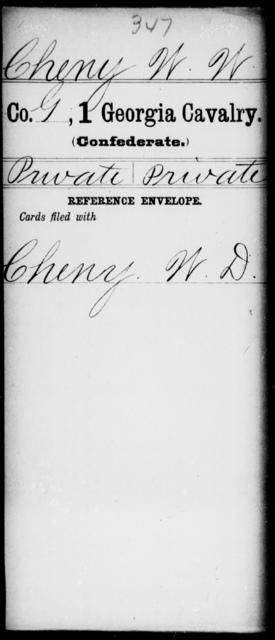 Cheny, W W - 1st Cavalry