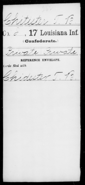 Chitister, T B - Age [Blank], Year: [Blank] - Seventeenth Infantry, A - Ch - Louisiana
