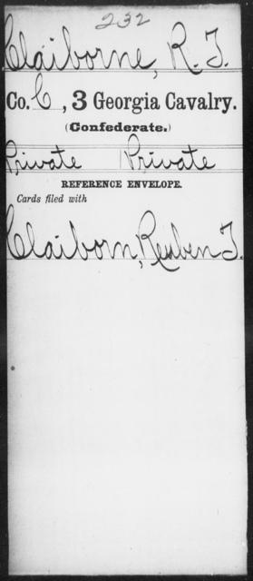 Claiborne, R T - 3d Cavalry