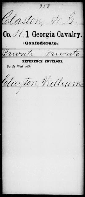 Claston, W G - 1st Cavalry