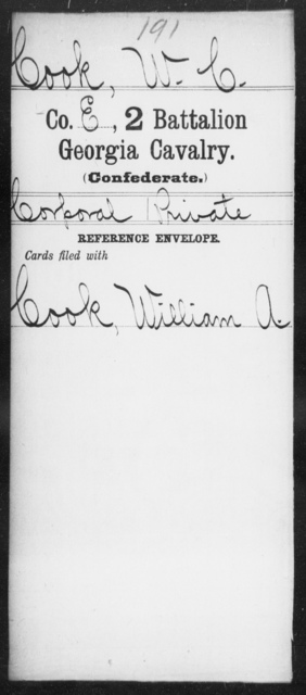 Cook, W C - 2d Battalion, Cavalry