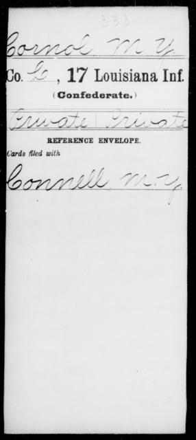 Cornol, M Y - Age [Blank], Year: [Blank] - Seventeenth Infantry, Cl- F - Louisiana