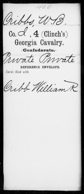 Cribbs, W B - 4th (Clinch's) Cavalry