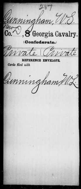 Cunningham, W S - 8th Cavalry