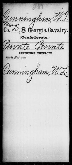 Cunningham, W T - 8th Cavalry