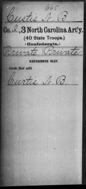 Custis, N B - Third Artillery (40th State Troops)