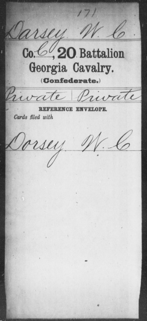 Darsey, W C - 20th Battalion, Cavalry