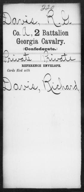 Davis, R G - 2d Battalion, Cavalry