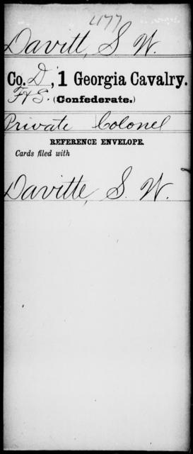 Davitt, S W - 1st Cavalry