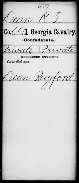 Dean, R T - 1st Cavalry