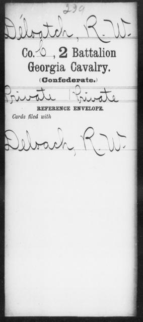 DeLoatch, R W - 2d Battalion, Cavalry