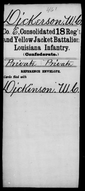 Dickerson, W C - Age [Blank], Year: [Blank] - Infantry, D - L - Louisiana