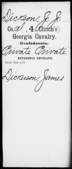 Dickson, J J - 4th (Clinch's) Cavalry