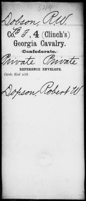 Dobson, R W - 4th (Clinch's) Cavalry
