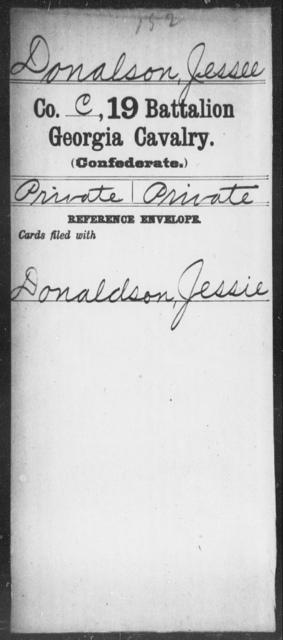 Donalson, Jessee - 19th Battalion, Cavalry