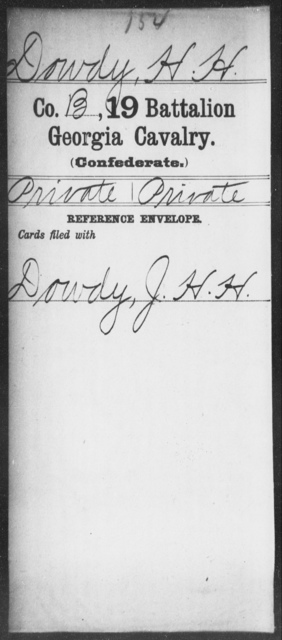Dowdy, H H - 19th Battalion, Cavalry