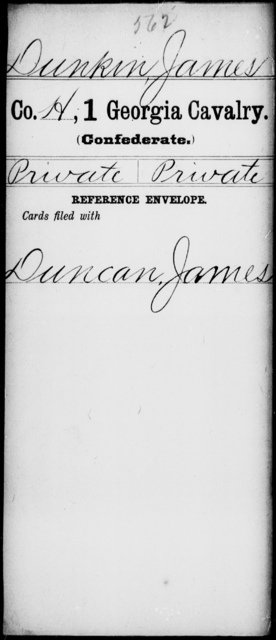 Dunkin, James - 1st Cavalry