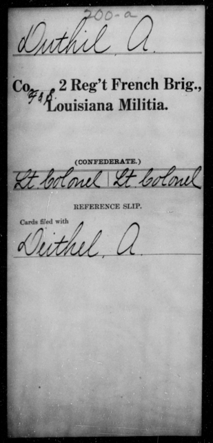 Duthil, A - Age [Blank], Year: [Blank] - Second Regiment, French Brigade, Militia - Louisiana