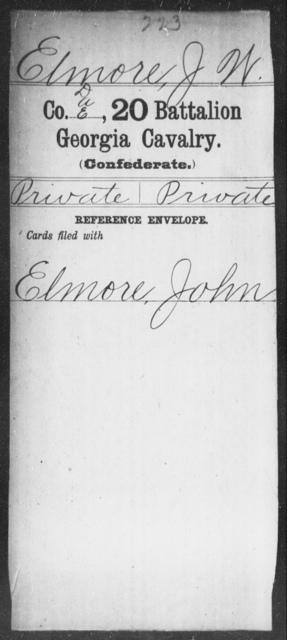 Elmore, J W - 20th Battalion, Cavalry