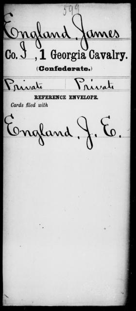 England, James - 1st Cavalry