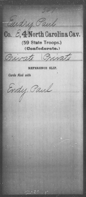 Eudry, Paul - Fourth Cavalry (59th State Troops)