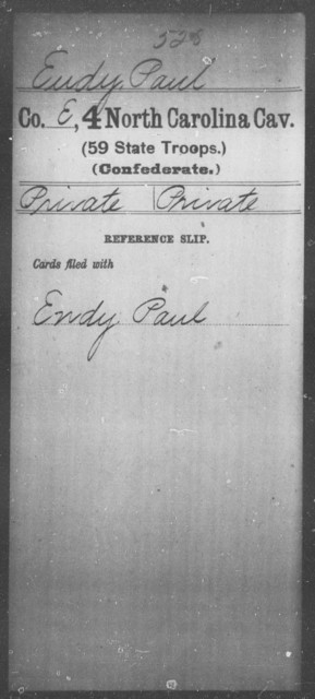 Eudy, Paul - Fourth Cavalry (59th State Troops)