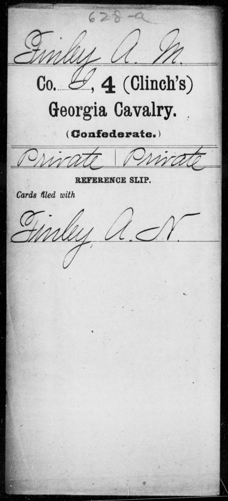 Finley, A M - 4th (Clinch's) Cavalry