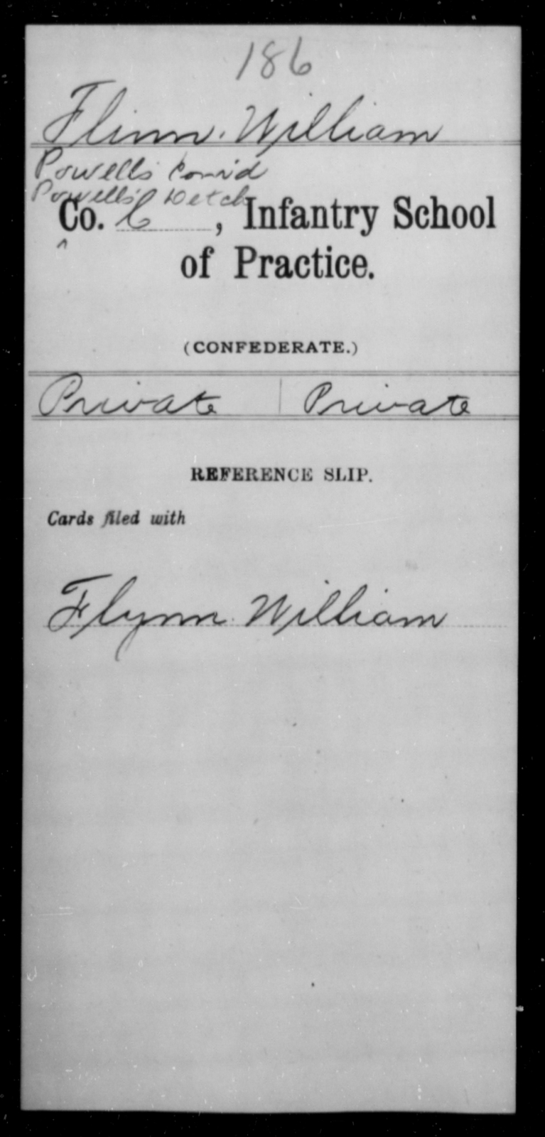 Flinn, William - Age [Blank], Year: [Blank] - Bands, CSA AND Lt